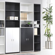 Fairfax Tall Narrow Bookcase in Black Woodgrain