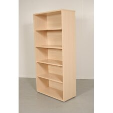 Pierce Office Five Shelf Bookcase in Light Maple