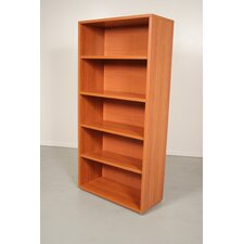 Pierce Office Five Shelf Bookcase in Black Woodgrain