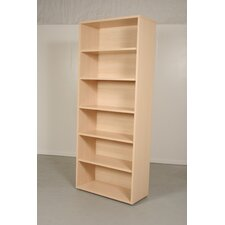 Pierce Office Six Shelf Bookcase in Light Maple