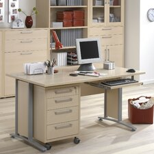 <strong>Tvilum</strong> Pierce Executive Desk Top with Metal Legs