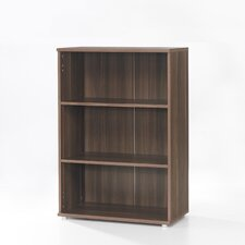 Cullen Short Bookcase with Doors in Walnut