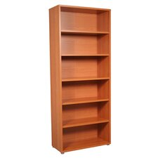Pierce Office Six Shelf Bookcase in Beech