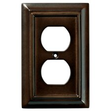 Wood Square Triple Switch Wall Plate