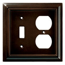 <strong>Brainerd</strong> Wood Architectural Single Switch/Duplex Wall Plate