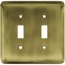 Stamped Round Double Switch Wall Plate