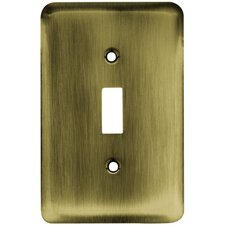 Stamped Round Single Switch Wall Plate
