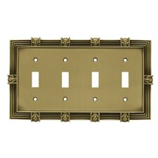 <strong>Brainerd</strong> Pineapple Quad Switch Wall Plate