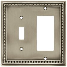 Beaded Single Switch/Decorator Wall Plate