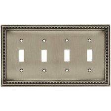 Beaded Quad Switch Wall Plate