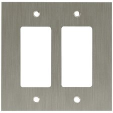 <strong>Brainerd</strong> Concave Double GFCI/Rocker Wall Plate