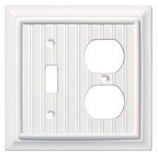 Beadboard Single Switch/Duplex Wall Plate