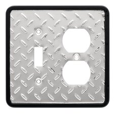 Diamond Plate Single Switch/Duplex Wall Plate