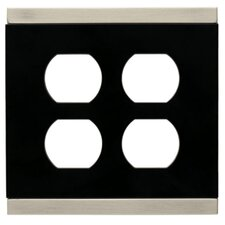 Basic Stripe Double Duplex Wall Plate