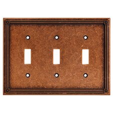 Ruston Triple Switch Wall Plate