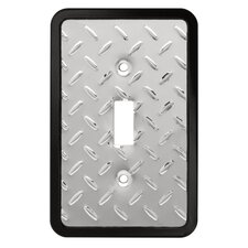 <strong>Brainerd</strong> Diamond Plate Single Switch Wall Plate