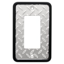 Diamond Plate Single Decorator Wall Plate