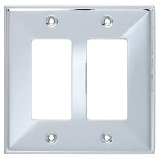 <strong>Brainerd</strong> Beverly Double Decorator Wall Plate