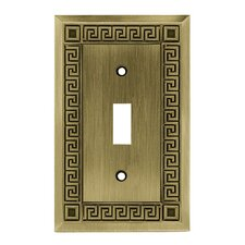 Greek Key Single Switch Wall Plate
