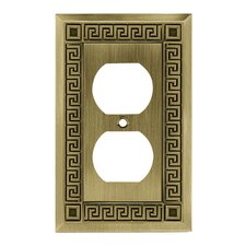 Greek Key Single Duplex Wall Plate