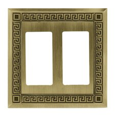 <strong>Brainerd</strong> Greek Key Double GFCI/Rocker Wall Plate