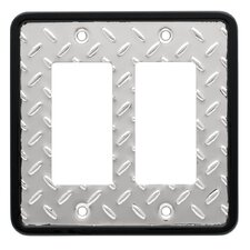 <strong>Brainerd</strong> Diamond Plate Double Decorator Wall Plate
