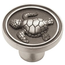"Seaside Cottage Turtle 1.45"" Round Knob"