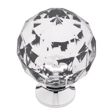"Design Facets Faceted 1.19"" Round Knob"