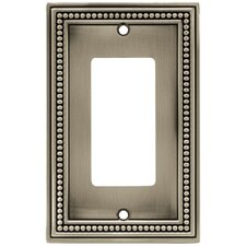 Beaded Single Decorator Wall Plate