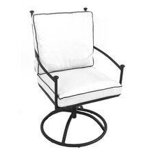 <strong>Meadowcraft</strong> Grayson Swivel Dining Arm Chair with Cushion