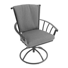 Vinings Swivel Dining Arm Chair with Cushion