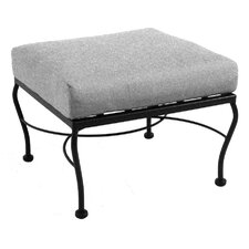 <strong>Meadowcraft</strong> Monticello Ottoman with Cushion