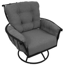 Vinings Deep Seating Swivel Rocking Chair with Cushion