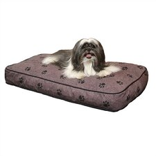 Gusseted Paw Print Dog Bed