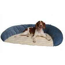 Basic Bolster Dog Bed in Microfiber