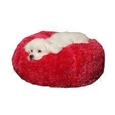 Silky Fleece Ball Dog Bed