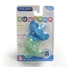 GumDrop Neutral Pacifier in Green / Blue