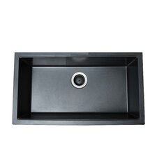 "30.5"" x 17.13"" Single Basin Granite Composite Dual Mount Kitchen Sink"