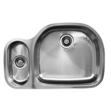 "31.5"" x 20.75"" Double Bowl Undermount Kitchen Sink"