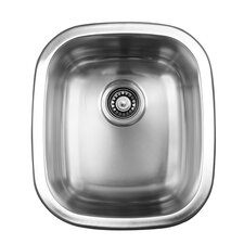 "15.5"" x 17.75"" Dual Mount Single Bowl Kitchen Sink"
