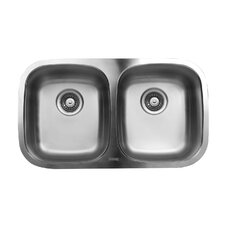 "30.33"" x 17.75"" Double Bowl Undermount Kitchen Sink"