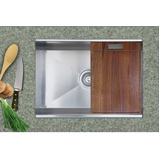 "24.5"" x 18.5"" Zero Radius Single Bowl Kitchen Sink"