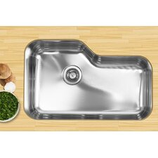 "30"" x 17.75"" Single Bowl Undermount Kitchen Sink"