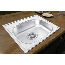 "18.88"" x 18.88"" x 7.5"" Drop-in Single Bowl Kitchen Sink"