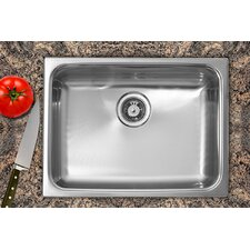 "24"" x 18"" Single Bowl Dual Mount Kitchen Sink"