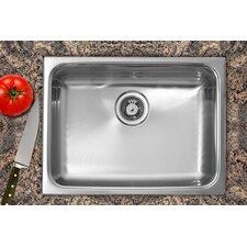 """24"""" x 18"""" Single Bowl Dual Mount Kitchen Sink"""