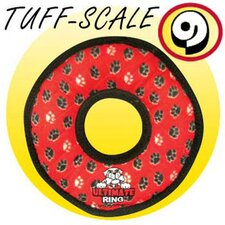 <strong>Tuffy's Pet Products</strong> Ultimate Ring Dog Toy in Red Paws