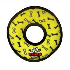 Ultimate Ring Dog Toy in Yellow Bones