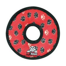 Junior Ring Dog Toy in Red Paw