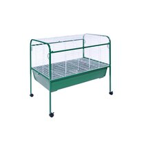 Jumbo Small Animal Cage on Stand with Casters - 40x22x37